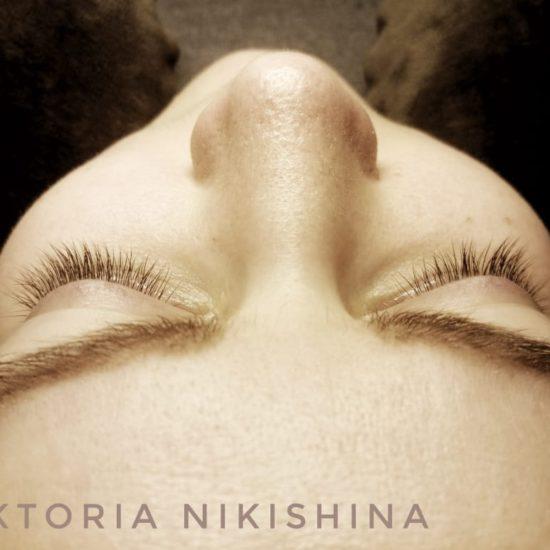 Наращивание ресниц - до. Виктория Никишина